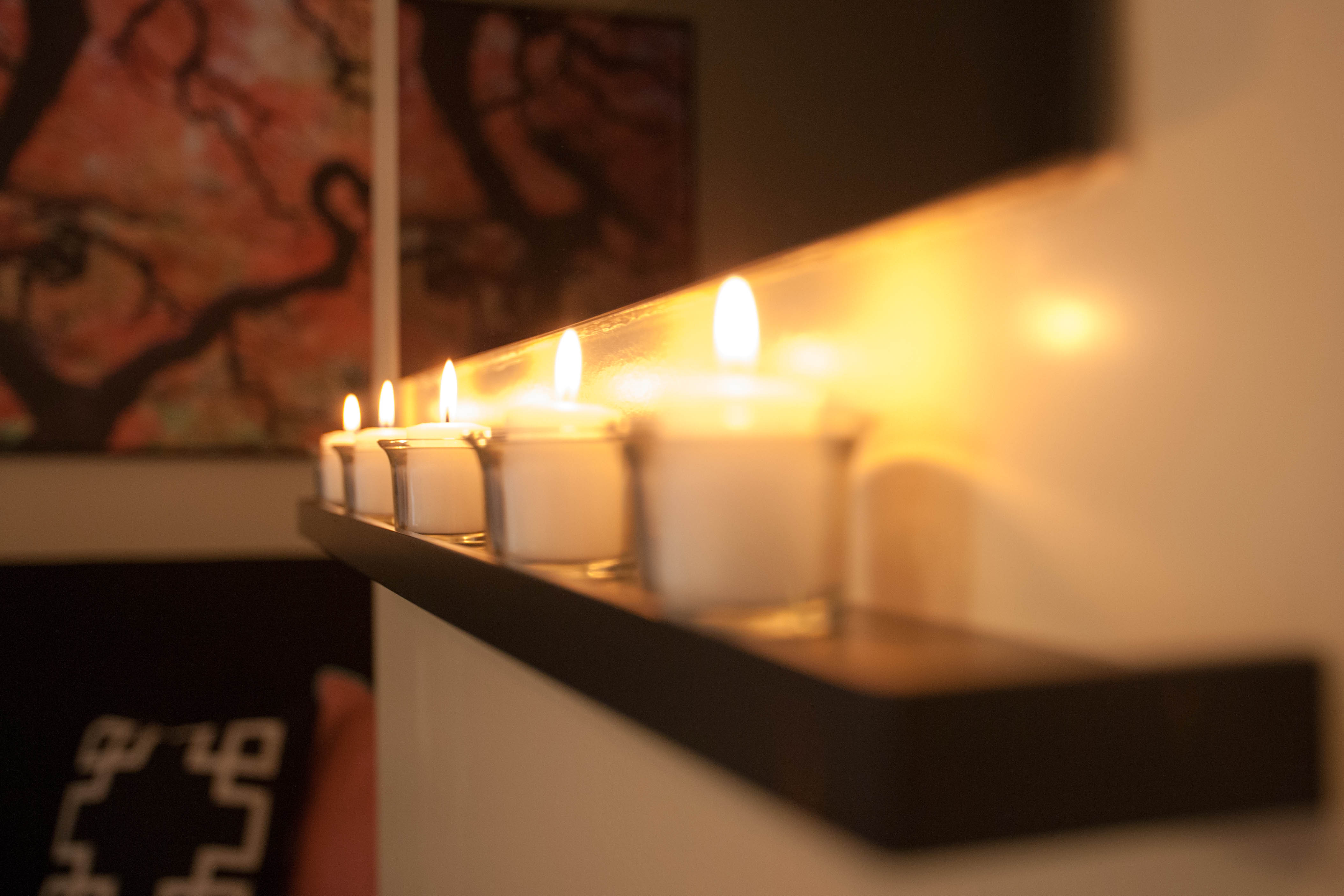 serenity fireplace candles